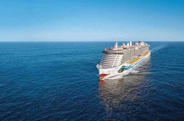 AIDAperla crucero que recalará en Málaga en escala internacional después de 16 meses sin barcos procedentes del extranjero por la pandemia