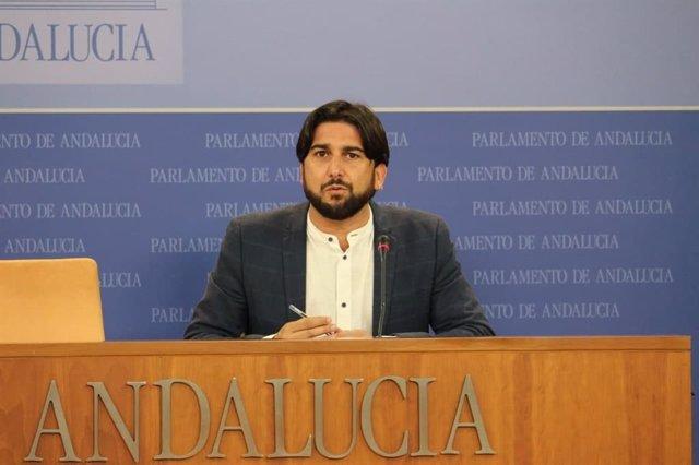 El diputado de Unidos Podemos por Andalucía Ismael Sánchez en su intervención.
