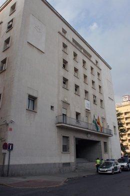 Archivo - Vista exterior de la Audiencia Provincial  de Huelva