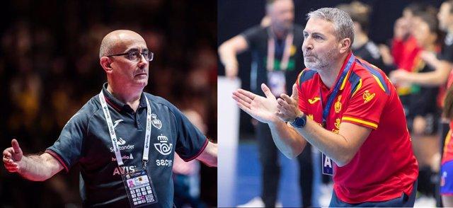 Archivo - Los seleccionadores nacionales de balonmano masculino y femenino, Jordi Ribera y Carlos Viver