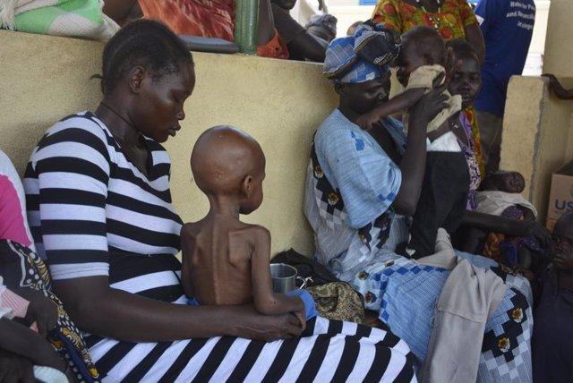 Archivo - Crisis del hambre en Sudán del Sur.