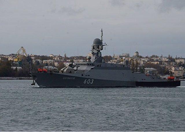 Archivo - El buque lanzamisiles ruso Serpujov