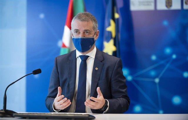 Archivo - El Lehendakari, Iñigo Urkullu, en el Día de Europa