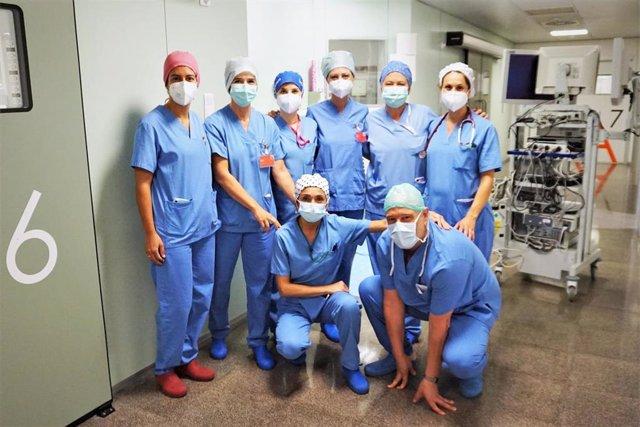 Equipo de cirugía del Servicio de Ginecología y Obstetricia del Hospital Reina Sofía de Tudela