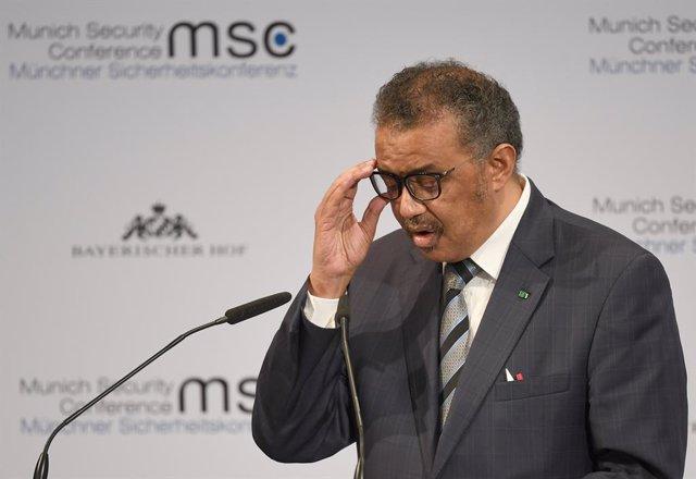 Archivo - El director general de la OMS, Tedros Adhanom.