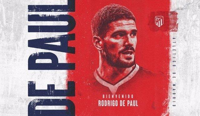 El Atlético ficha a Rodrigo de Paul para las próximas cinco temporadas