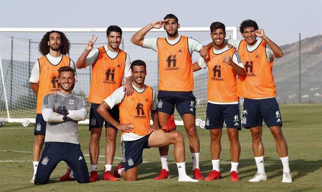 Archivo - Jugadores de la selección española olímpica de fútbol