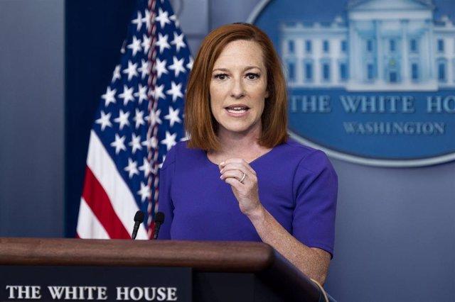 La secretaria de prensa de la Casa Blanca, Jennifer Psaki