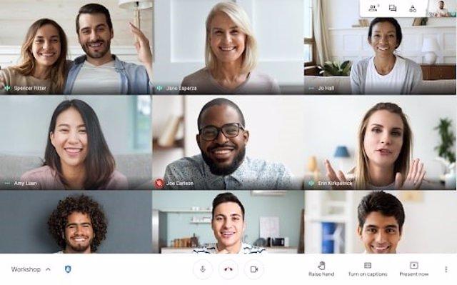 Videollamada grupal de Google Meet