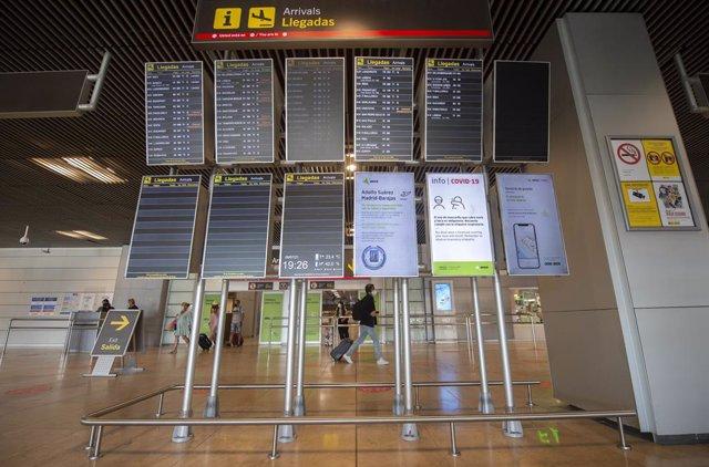 Aeropuerto Adolfo-Suárez Madrid Barajas, a 9 de julio de 2021, en Madrid, (España).