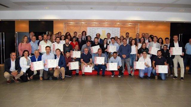 Premios Espiga a la Actividad Física, en una foto de archivo