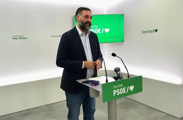 El vicesecretario general del PSOE de Sevilla y parlamentario Andaluz, Javier Fernández