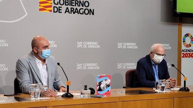 Víctor Lucea y José Ignacio López Susín han presentado el programa cultural y la app, con motivo del Año Jacobeo