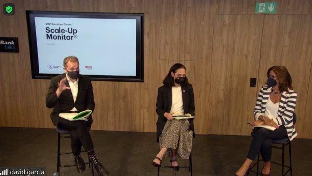 Presentación del estudio Barcelona Global Scale-Up Monito en su segunda edición con el ceo de Barcelona Global, Mateu Hernández