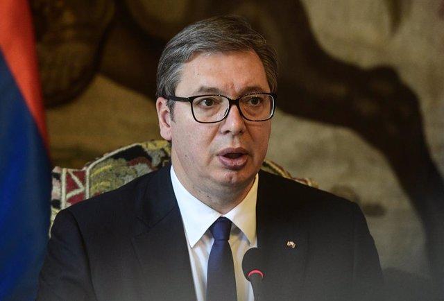 Archivo - El presidente de Serbia, Aleksandar Vucic