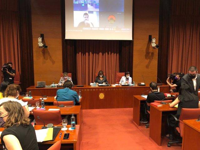 Reunió de la Junta de Portaveus del Parlament de Catalunya, a 13 de juliol de 2021