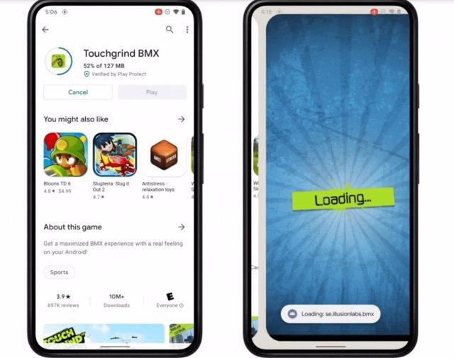 Nueva experiencia Google Play Store que permite jugar mientras el juego se descarga en segundo plano