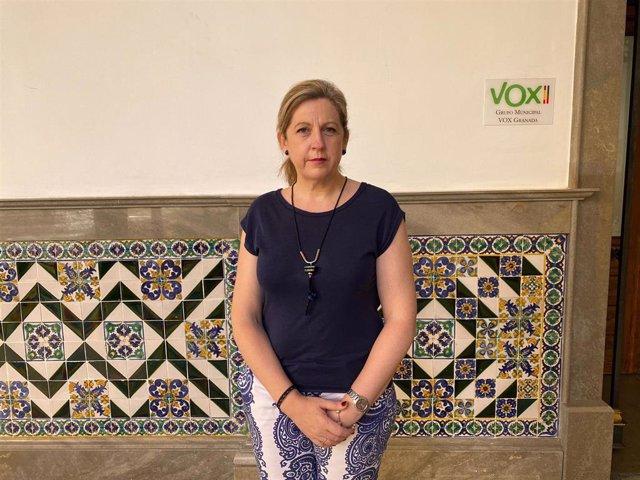 La concejal de Vox en el Ayuntamiento de Granada Beatriz Sánchez Agustino