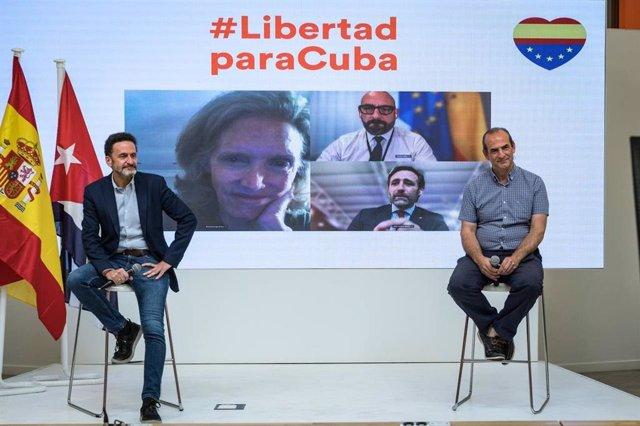 El portavoz de la Ejecutiva de Ciudadanos, Edmundo Bal, en un acto sobre Cuba en la sede del partido.
