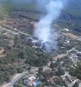 Incendio declarado en Alhaurín el Grande