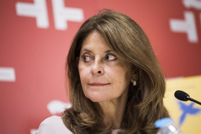 La vicepresidenta y ministra de Exteriores de Colombia, Marta Lucía Ramírez.