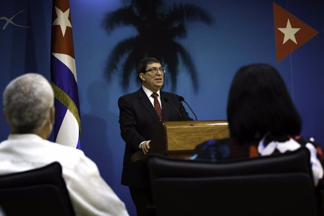 Archivo - 22 October 2020, Cuba, Havana: Cuban Foreign Relations Minister Bruno Rodriguez Parrilla speaks during a press conference about US blockade on Cuba. Photo: Irene Perez/TheNEWS2 via ZUMA Wire/dpa