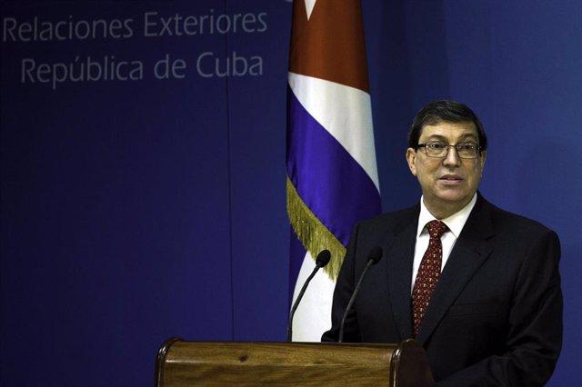 Archivo - El ministro de Exteriores de Cuba, Bruno Rodríguez