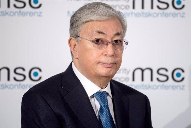 Archivo - El presidente de Kazajistán, Kassim-Jomart Tokayev