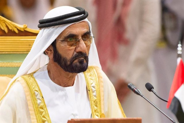 Archivo - El primer ministro de Emiratos Árabes Unidos (EAU) y emir de Dubái, Mohamed bin Rashid al Maktum