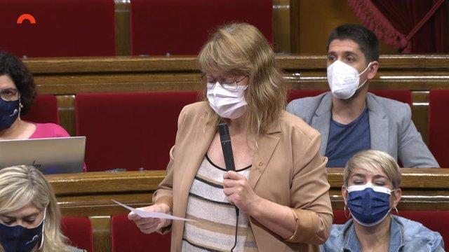 Arxiu - La consellera de Cultura, Natàlia Garriga, al Parlament