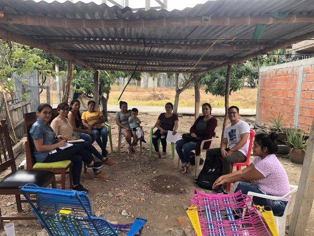 Archivo - Proyecto de cooperación con los desplazados por el conflicto armado en Colombia