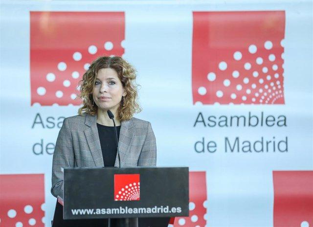La portavoz del PSOE en la Asamblea de Madrid, Hana Jalloul, en una imagen de archivo