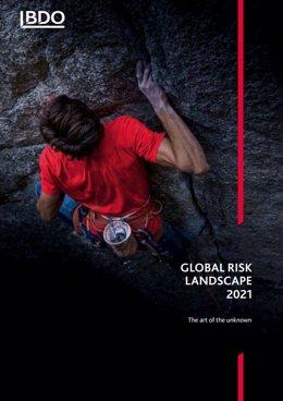 Portada informe anual Global Risk Landscape 2021 de BDO