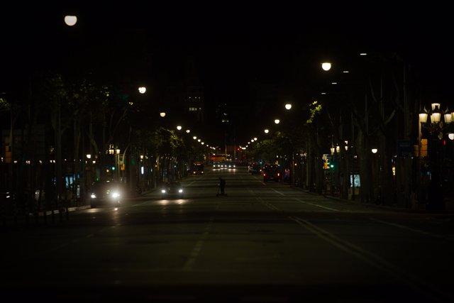 Las calles de Barcelona durante el primer toque de queda por la pandemia. Foto de archivo.