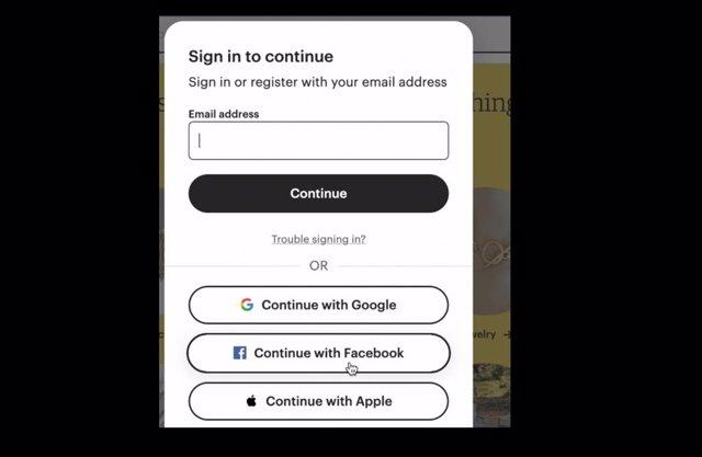 Inicio de sesión con Facebook en web desde Firefox