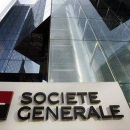 Archivo - Logo de Société Générale en un edificio.