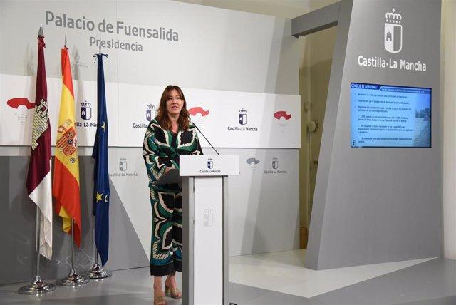 La portavoz del Gobieno regional, Blanca Fernández,