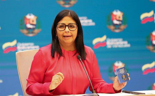 Archivo - La vicepresidenta de Venezuela, Delcy Rodriguez