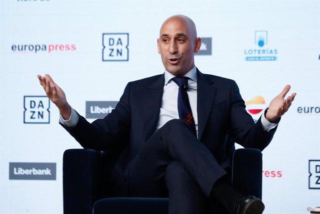 Luis Rubiales en els Esmorzars Esportius d'Europa Press