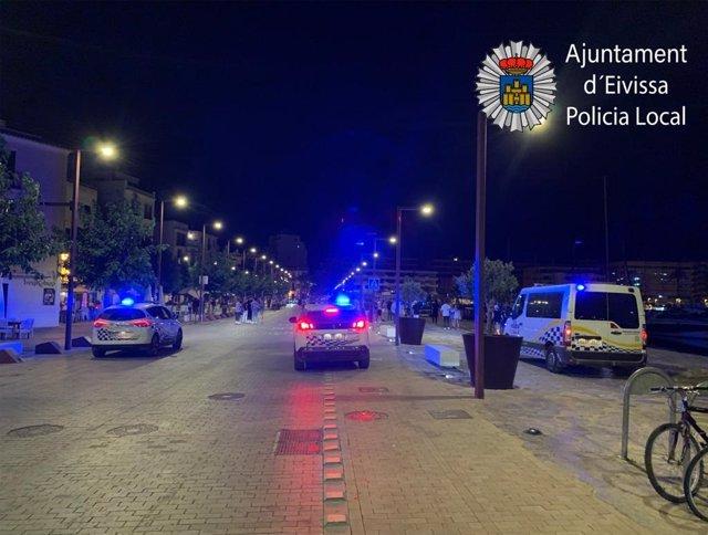 Intervención de la Policía Local de Ibiza.