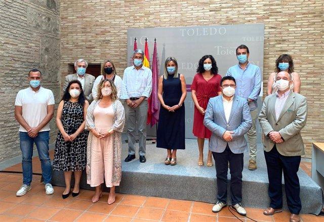 La alcaldesa de Toledo, Milagros Tolón,  tras anunciar la reorganización de su equipo