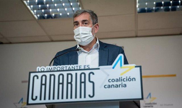 Archivo - El secretario general nacional de Coalición Canaria-PNC, Fernando Clavijo