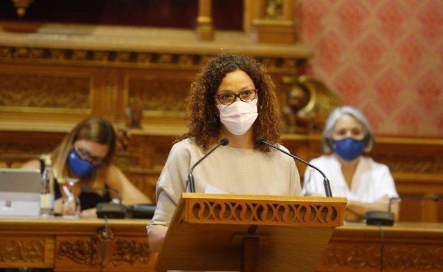 La presidenta del Consell de Mallorca, Catalina Cladera, en el Debate de Política General Insular.