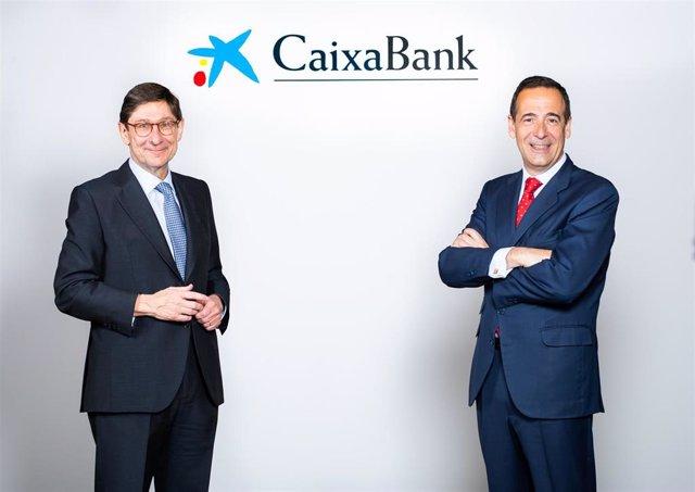 Archivo - José Ignacio Goirigolzarri, presidente de CaixaBank, y Gonzalo Gortázar, consejero delegado de CaixaBank