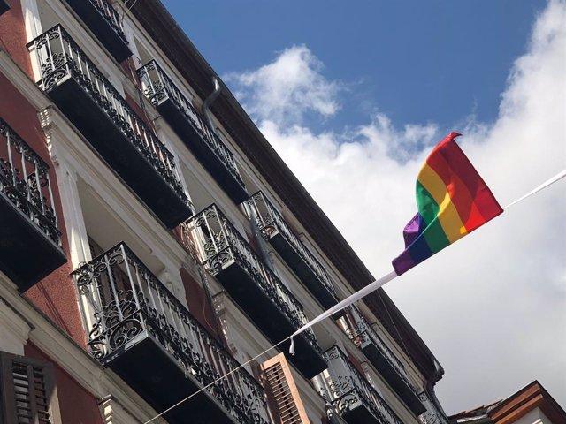 Archivo - La bandera arcoiris en la celebración del Orgullo Gay en Madrid