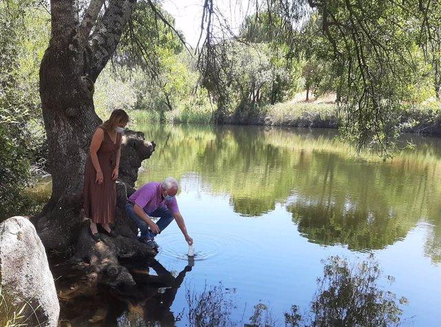 Visita a la zona de baño del río Jándula.