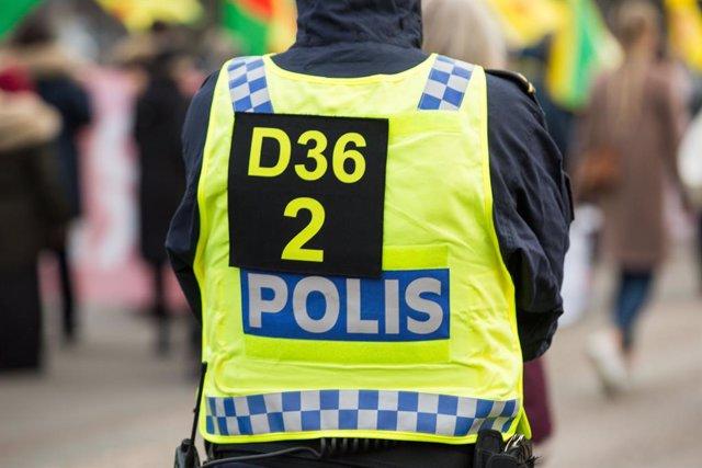 Archivo - Policía en Gotemburgo (Suecia)