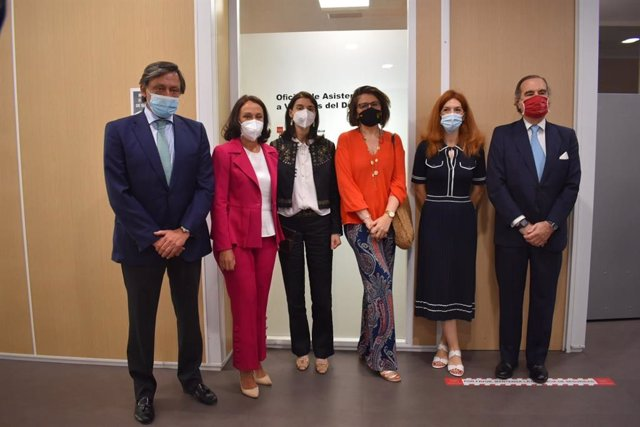La ministra de Justicia, Pilar Llop, visita el Juzgado número 5 de Madrid de Violencia sobre la Mujer