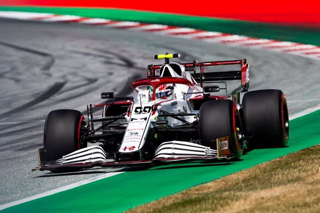 99 GIOVINAZZI Antonio (ita), Alfa Romeo Racing ORLEN C41, action during the Formula 1 Grosser Preis Von Osterreich 2021, 2021 Austrian Grand Prix, 9th round of the 2021 FIA Formula One World Championship from July 2 to 4, 2021 on the Red Bull Ring, in Spi