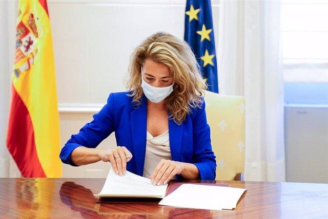 La ministra de Transportes, Movilidad y Agenda Urbana, Raquel Sánchez Jiménez.